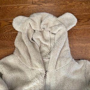 Teddy ears zip up hoodie